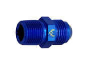 Straight Flare to NPT Adapter (Blue)