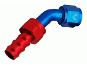 45° Push-Lok Hose End (Red/Blue)