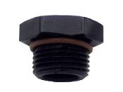 Straight Thread O-Ring Plug (Black)