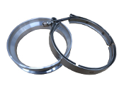 "Garrett ""Large Frame"" T6 Downpipe Flange / Clamp Combo"